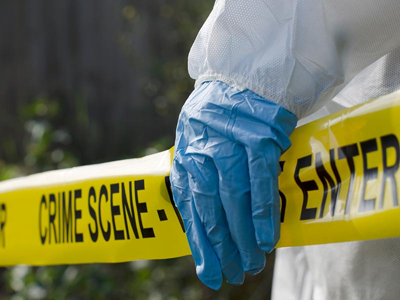 home becomes a crime scene