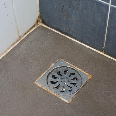 water damage water backing up through drain