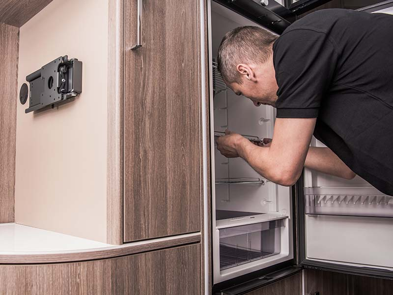 a leaking refrigerator